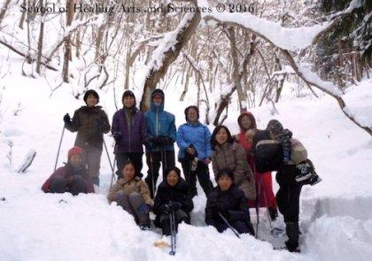 飛騨の雪山