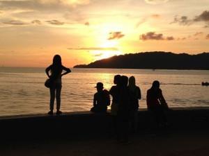 ボルネオ島の夕焼け