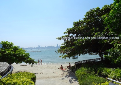 リゾートのプライベートビーチ